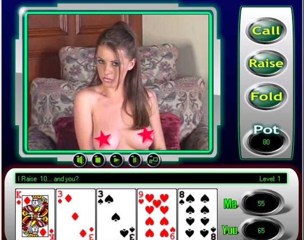 Amateur video of people strip poker