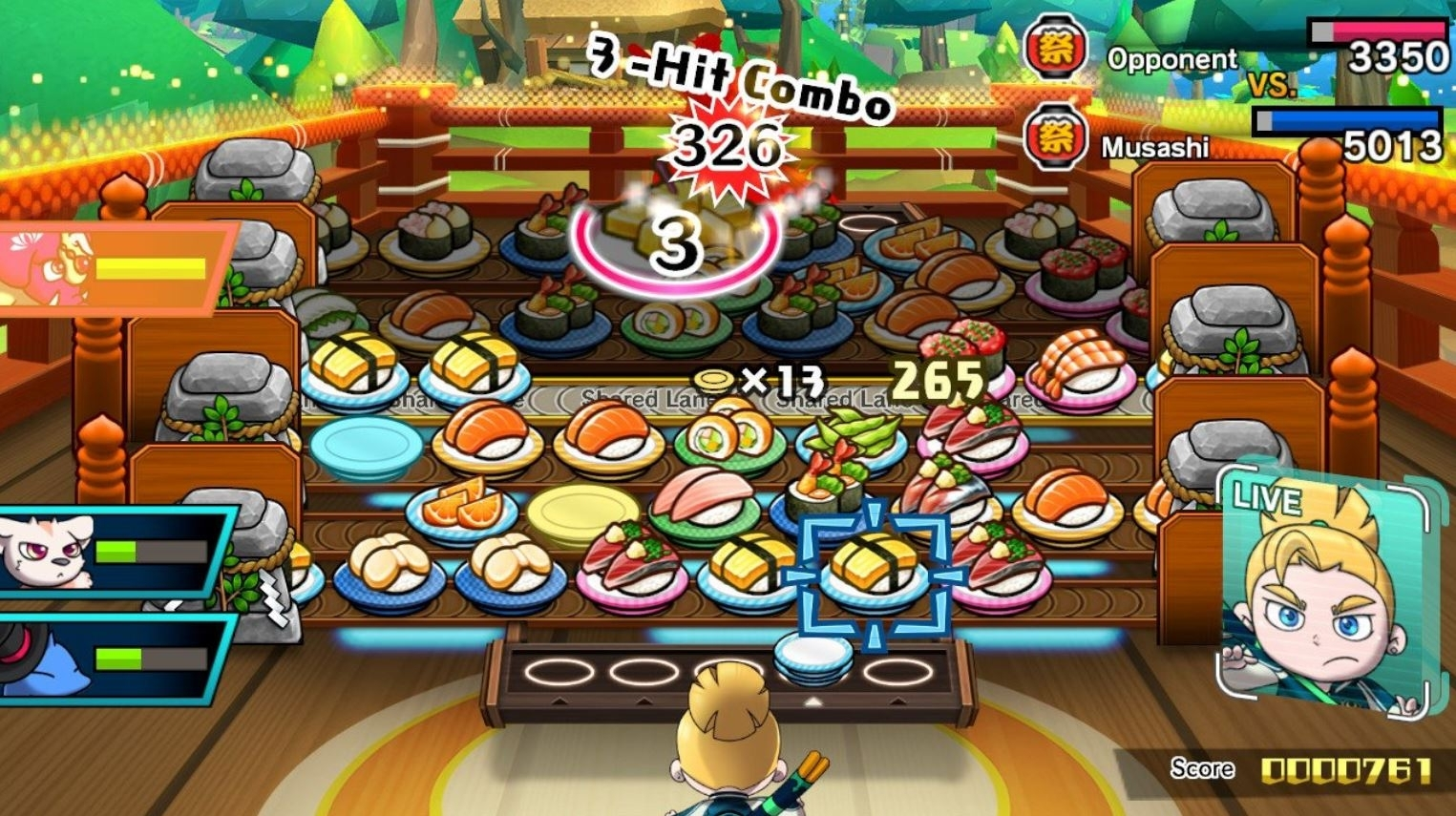 Скриншот из игры Sushi Striker: The Way of Sushido под номером 1