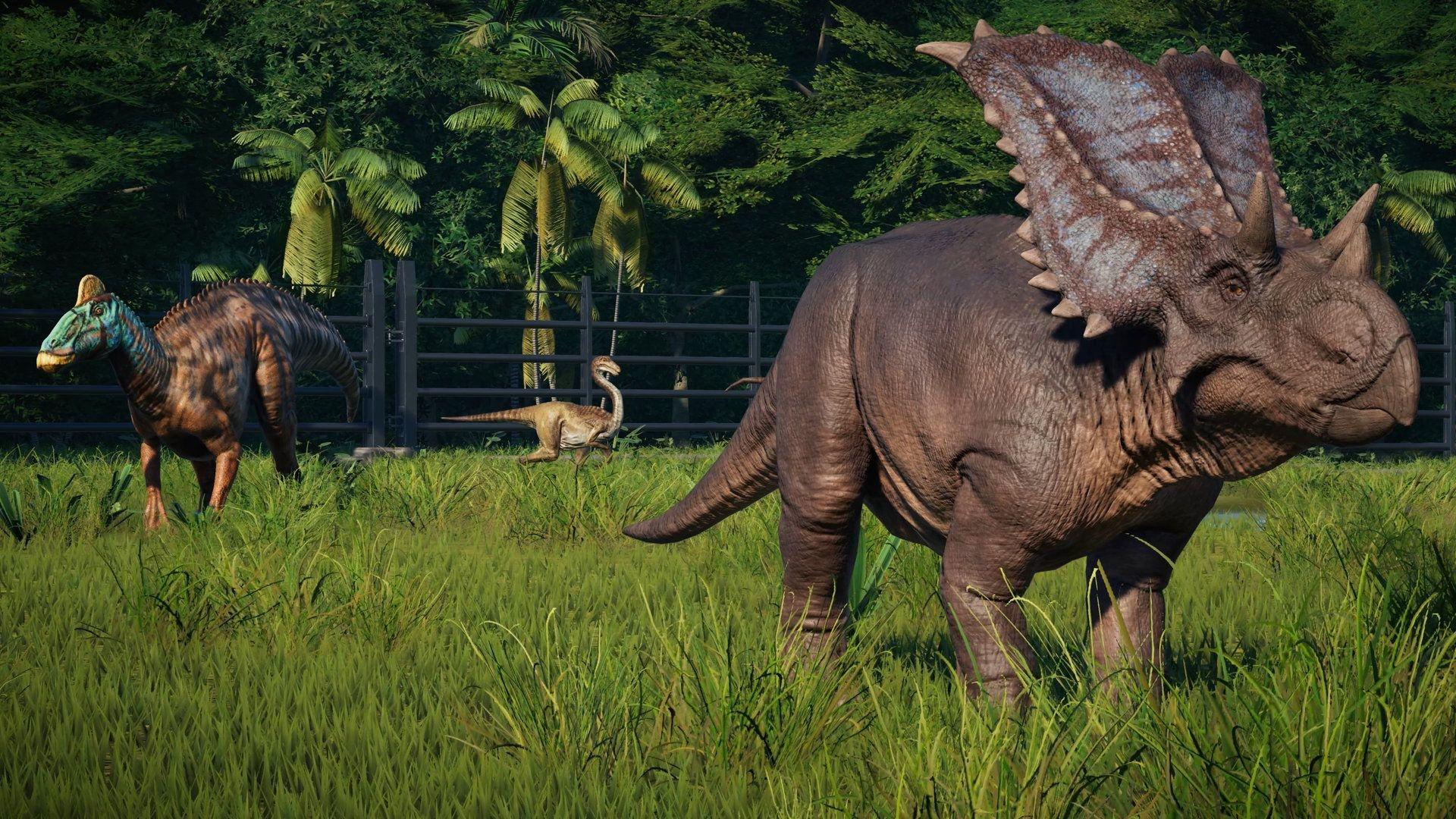 сообщается, картинки трицератопса из парка юрского давно