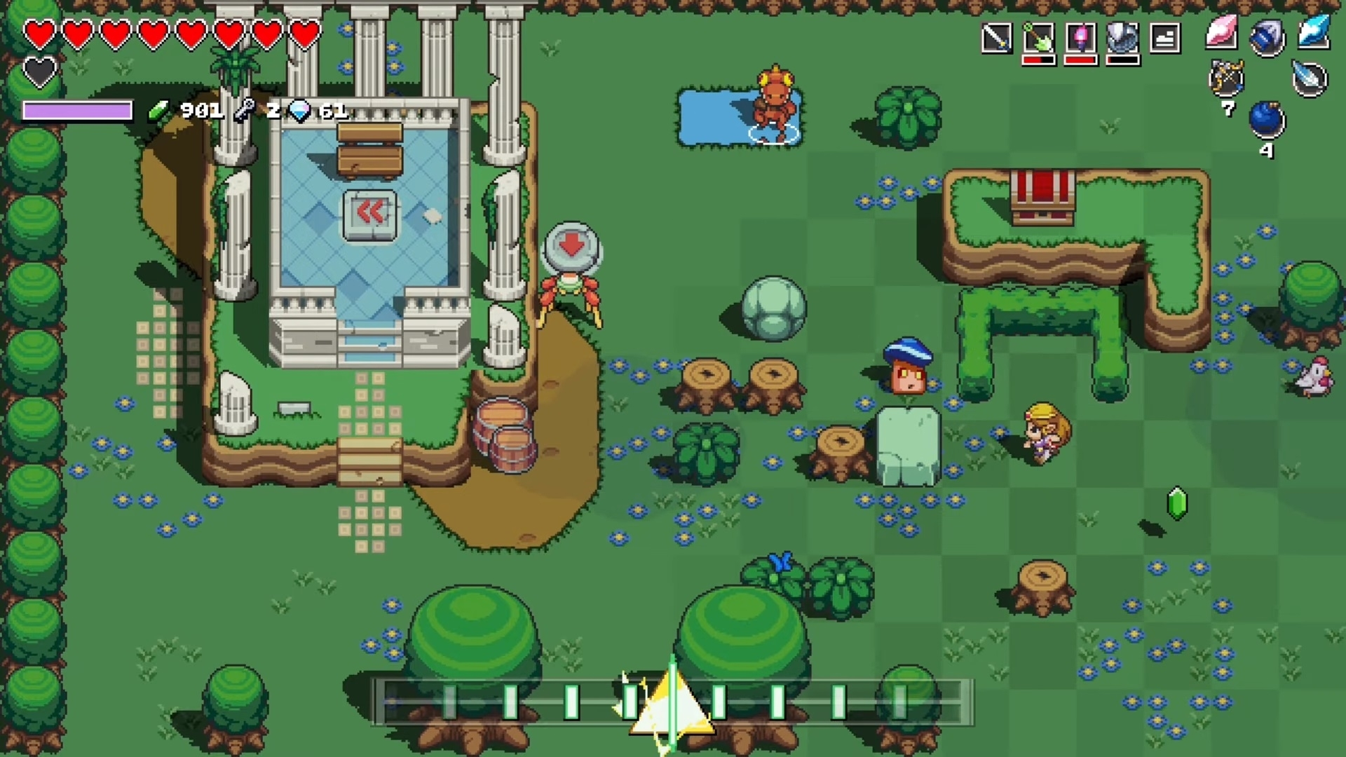 Скриншот из игры Cadence of Hyrule: Crypt of the NecroDancer featuring The Legend of Zelda под номером 3