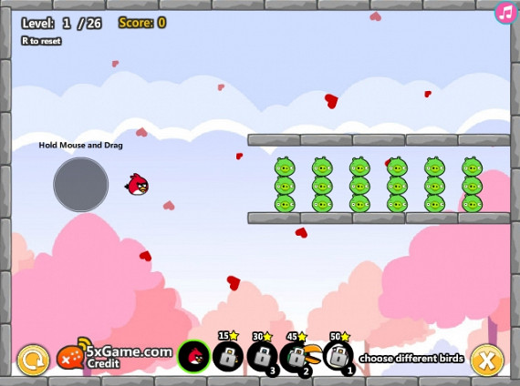 Обложка флеш игры Angry Birds Cannon 2