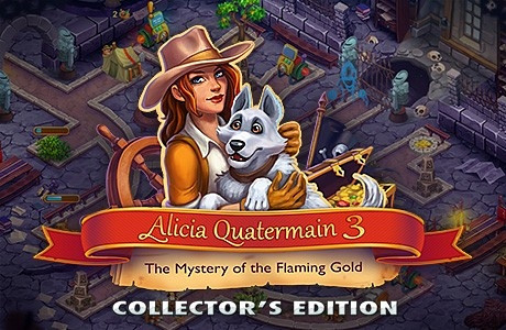 Обложка игры Alicia Quatermain 3: The Mystery of the Flaming Gold