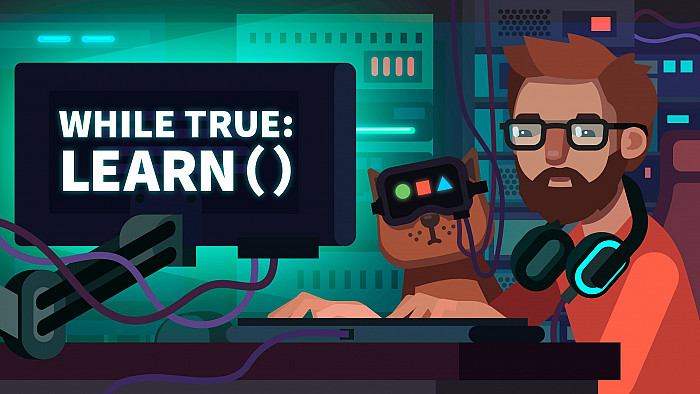 Обложка к игре While True: learn