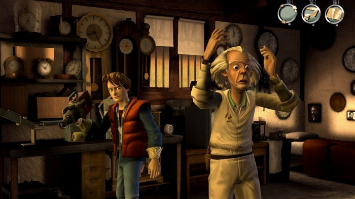 Скриншот из игры Back to the Future: The Game Episode 1. It's About Time