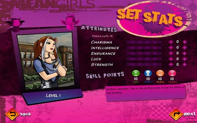 Скриншот из игры Mean Girls: High School Showdown