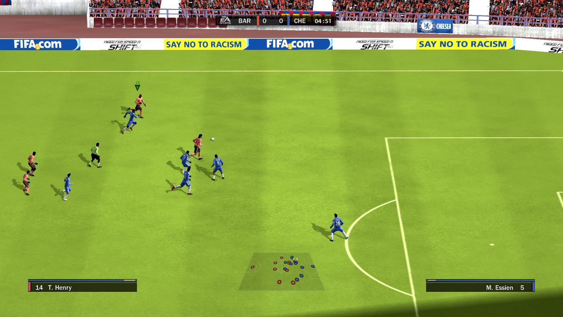 Скриншот из игры FIFA 10 под