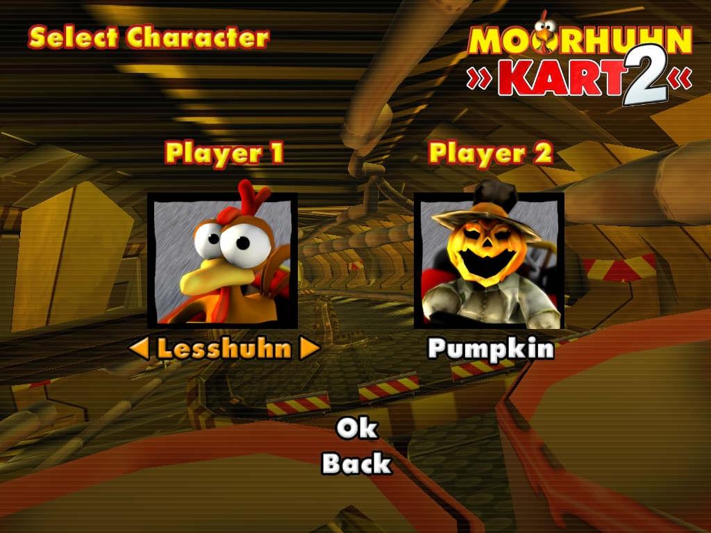 Moorhuhn Kart لعبة سباق السيارات التي يقودها الدجاج خفيفة مسلية,بوابة 2013 screenshot_moorhuhn_