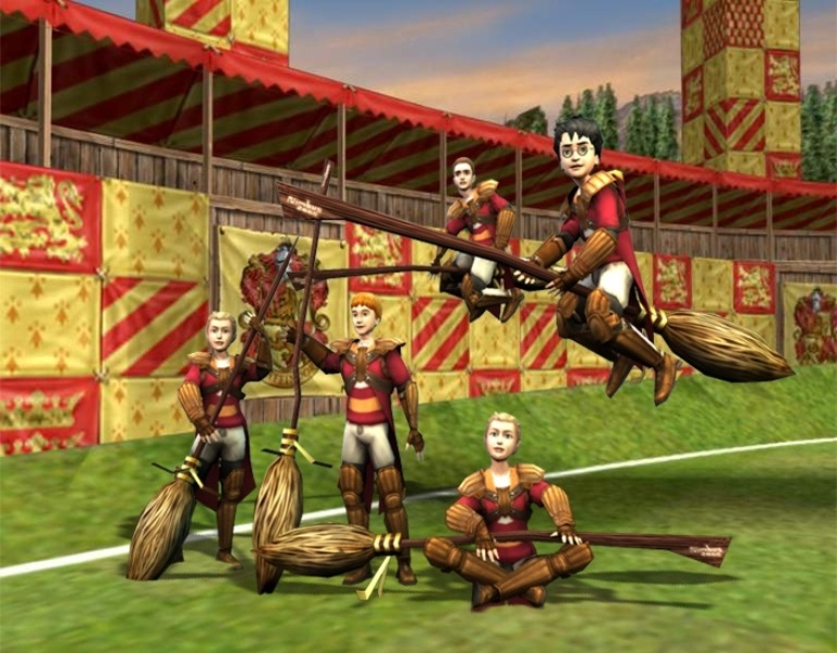 Скриншот из игры Harry Potter Quidditch World Cup.
