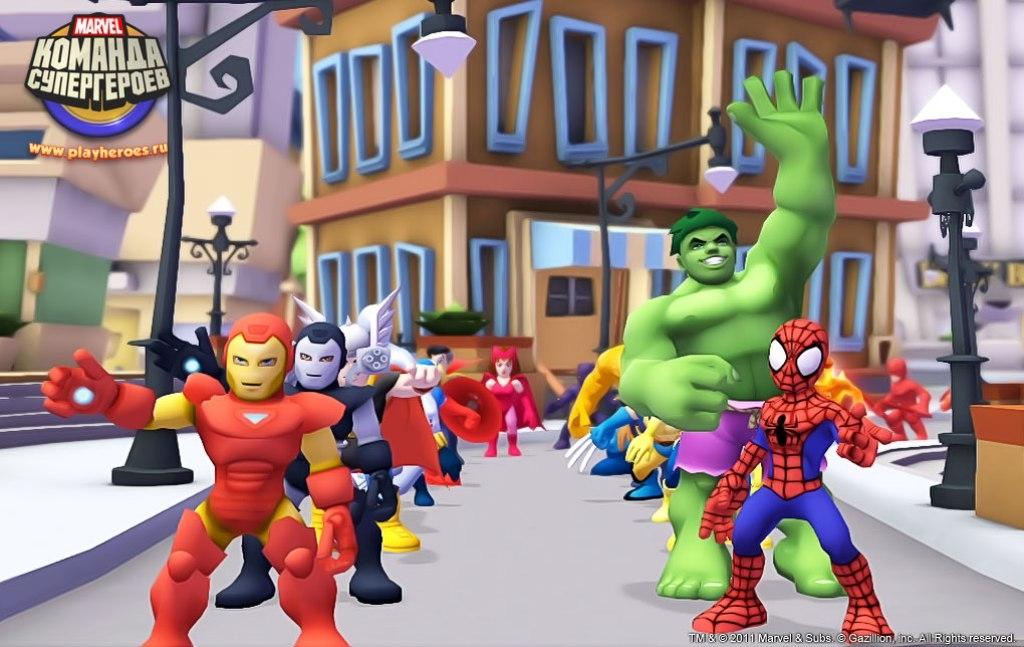 superhero and game