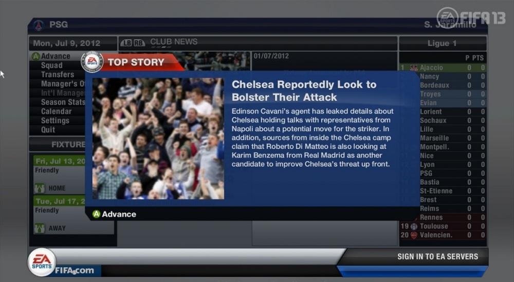 Скриншот из игры FIFA 13 под