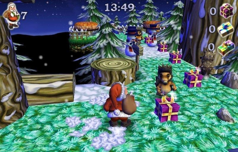 Играть в санта клаус собирает подарки 96