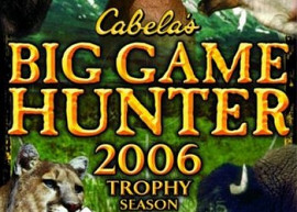 Обложка игры Cabela's Big Game Hunter 2006 Trophy Season
